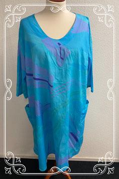 Lange blauw met paarse jurk van Skandika maat XXL