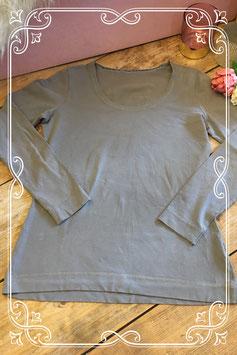 Taupe lange mouwen shirt van NÜ - Maat S