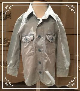 Lichblauw jeans hemd van de HEMA - maat 86-92