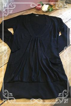 Zwart lang shirt van HEMA - Maat M
