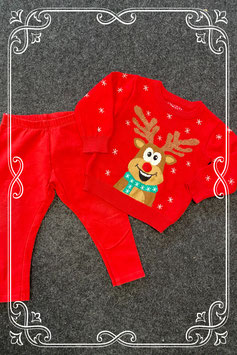 Kerst trui met bijpassende broek van C&A maat 74