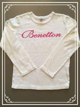 Crème-kleurig shirtje van Benetton - maat 122