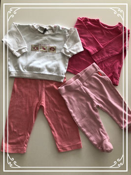 Roze kleding set - Maat 68
