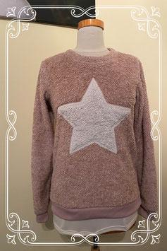 Zachte roze trui met ster van Page one Young maat 170/176