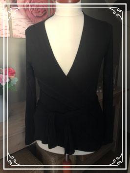 Zwart vestje met knoop van Zalando - Maat L