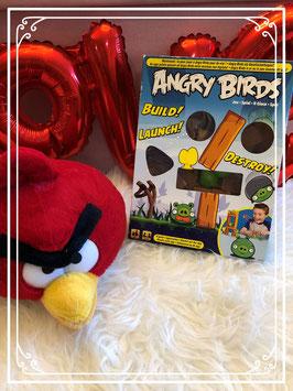 Angry bird speel met zachte knuffel .