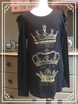 Nieuw: zwart shirt van Here + There - maat 158-164