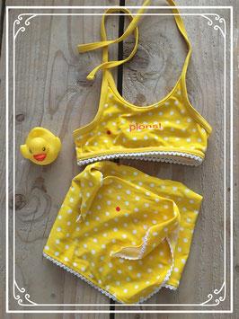 Geel gestippelde bikini van Lief! - Maat 62-68