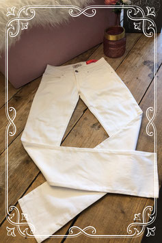 Witte spijkerbroek van MET - Maat 176