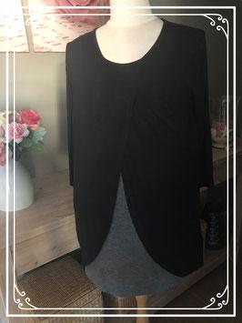 Zwart met grijs shirt van Zalando - Maat L