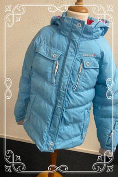Stoere blauwe winterjas van Icepeak maat 152