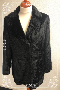Zwarte zachte stoffen jas van H&M maat 44