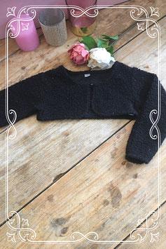 Zwart bolero vestje (merkloos) -  Maat 92