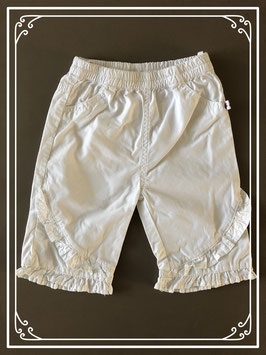 Witte broek met ruffles - Maat 62