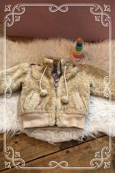 Super leuk zacht beige jasje van Moodstreet - maat 74