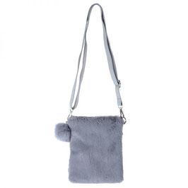 Nieuw: Handig en leuk en grijs Bag Pompon Furry van Yehwang