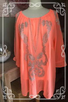 Oranje tuniek met zilveren details van BPC - Maat XL