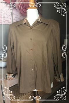 Bruine blouse met geruite print van Typical Collection - Maat L