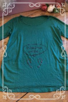 Groen/zwart gestreept shirt van Yessica - Maat M