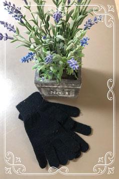 Warme zwarte dameshandschoenen