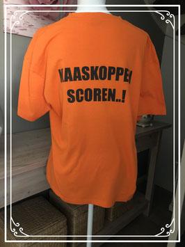 oranje shirt met tekst van lemon&soda-maat L