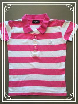 Roze-wit gestreepte polo van Red Street - maat 146