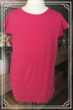 Roze basic t-shirt - Maat 164-170