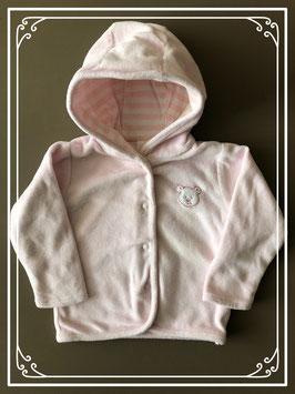 Zacht roze vestje van baby club - Maat 62