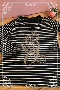 Zwart-wit gestreept shirt van Sosoire - maat m