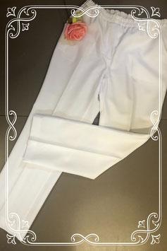 Witte broek met elastische band in maat 40