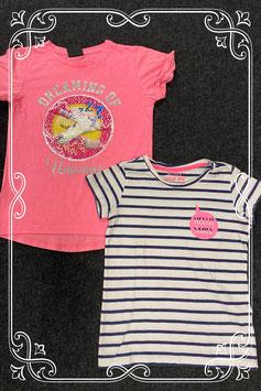 2 leuke shirts van Hema en Young Dimension maat 134/140