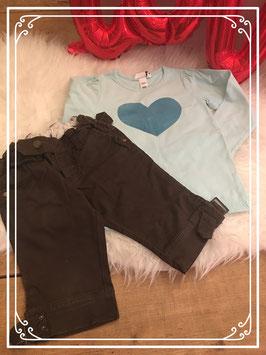 2-delige kleding set van de Zara en de H&M - Maat 104