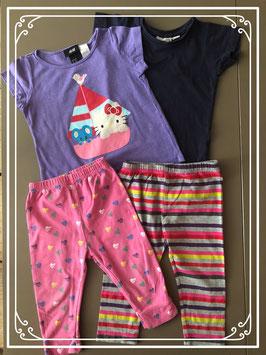Vier leuke kledingstukken maatje 86-92 (1x 92-98)