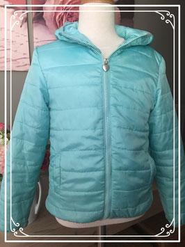 Lichtblauwe jas polyester jas - Maat 122/128