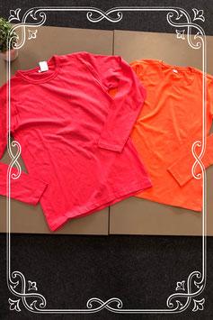Roze en oranje longsleeve maat 158/164