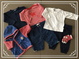 Compleet pakket broekjes-truitjes-vestje-jasje oa van name-it-hema-prenatal maat 62