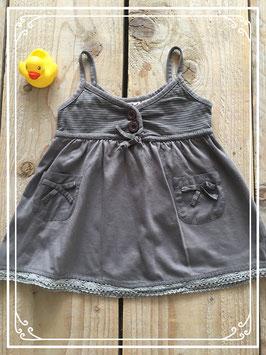 Donkergrijs jurkje van Bakkaboe - Maat 62