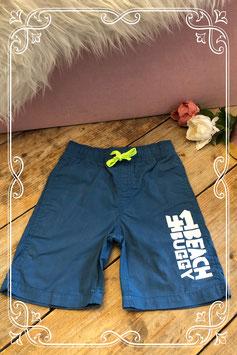 Blauwe broek met witte print van H&M - Maat 98