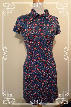 Nieuw: Donkergroen jurkje met bloemen van het merk SOHO Maat 164