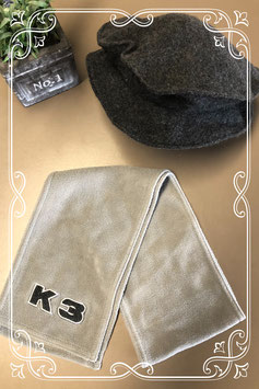 Grijze muts met sjaal van K3! - vanaf 5 jaar