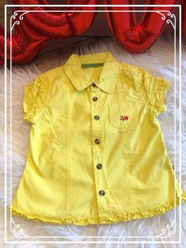 Felgele blouse - ZULUPAPUWA - maat 98