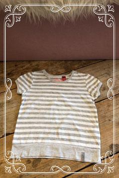 Grijs/wit gestreept T-shirt van ESPRIT - Maat 104/110