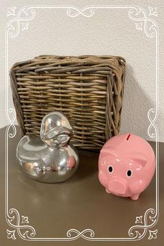 2 leuke spaarpotten: eend en varken