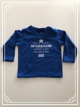 Donkerblauw McGregor shirt - Maat 68