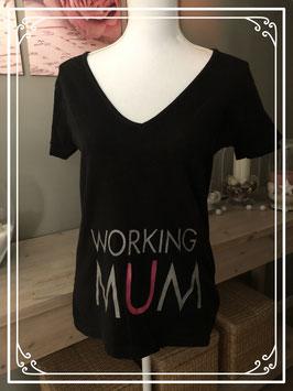 Zwart zwangerschaps korte mouwen t-shirt van Sumpermom - Maat L