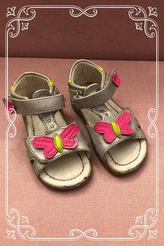 Zilveren meisjes sandalen - maat 22