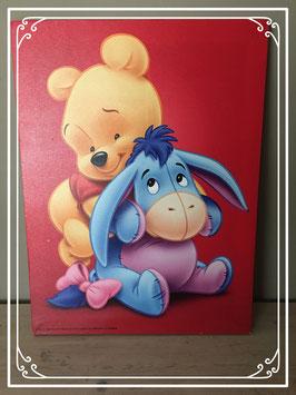 Fotoschilderij Winnie the Pooh en Iejoor