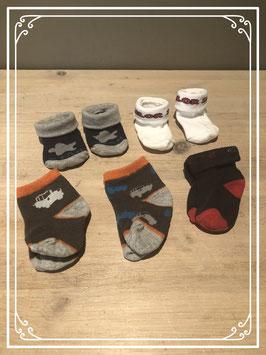 5 paar sokjes
