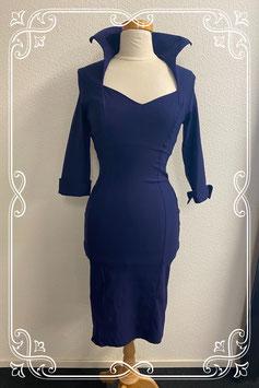 Elegante donkerblauwe jurk van Pinup Couture maat L