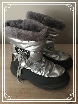 Zilveren snowboots - Maat 34